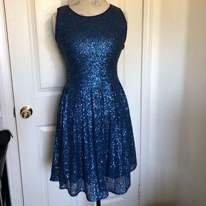 Dresses & Skirts - Blue Sequins Dress Size medium